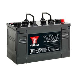 663HD Yuasa Cargo Heavy Duty Battery 12V 110Ah YBX1663