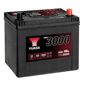 YBX3005 Yuasa SMF Car Battery 12V 60Ah