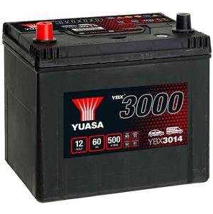 YBX3014 Yuasa SMF Car Battery 12V 60Ah