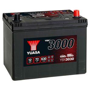 YBX3030 Yuasa SMF Car Battery 12V 72Ah