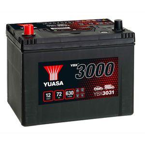 YBX3031 Yuasa SMF Car Battery 12V 72Ah