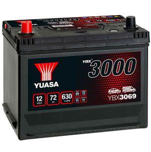 YBX3069 Yuasa SMF Car Battery 12V 72Ah