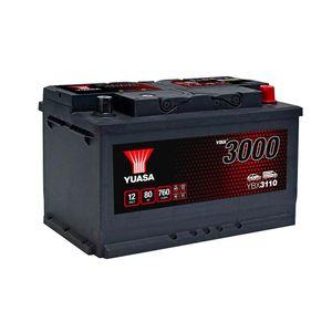 YBX3110 Yuasa SMF Car Battery 12V 80Ah