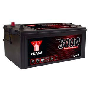 YBX3625 Yuasa Super Heavy Duty Battery 625SHD