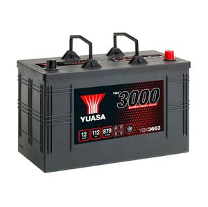 663SHD Yuasa Cargo Super Heavy Duty Battery 12V 112Ah YBX3663