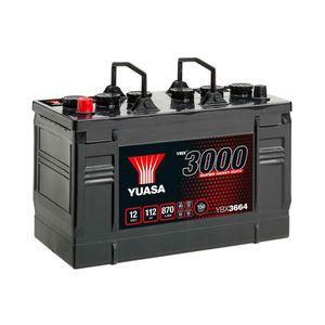 664SHD Yuasa Cargo Super Heavy Duty Battery 12V 112Ah YBX3664