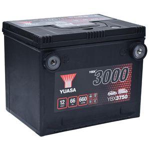 YBX3750 Yuasa SMF Car Battery 12V 66Ah