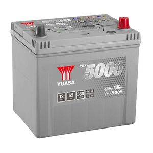YBX5005 Yuasa Silver High Performance Car Battery 12V 65Ah HSB005