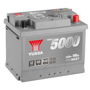 YBX5027 Yuasa Silver High Performance Car Battery 12V 65Ah HSB027
