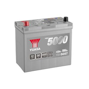 YBX5057 Yuasa Silver High Performance Car Battery 12V 50Ah HSB057