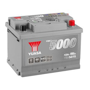 YBX5075 Yuasa Silver High Performance Car Battery 12V 60Ah HSB075