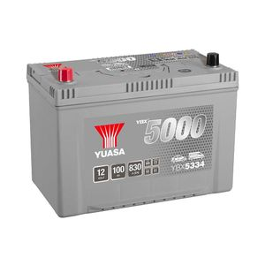 YBX5334 Yuasa Silver High Performance Car Battery 12V 100Ah HSB334