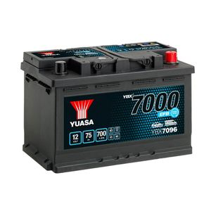 YBX7096 Yuasa EFB Start Stop Car Battery 12V 75Ah