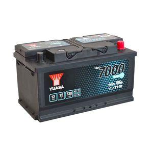 YBX7110 Yuasa EFB Start Stop Car Battery 12V 75Ah