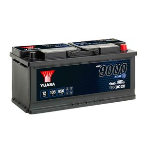 YBX9020 Yuasa AGM Start Stop Car Battery 12V 105Ah