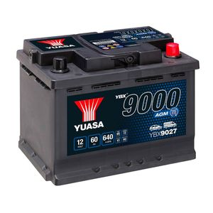 YBX9027 Yuasa AGM Start Stop Car Battery 12V 60Ah