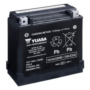 Yuasa YTX20HL-BS-PW Haute Performance MF Batterie De Moto