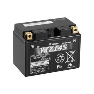 Yuasa YTZ14S High Performance MF Motorcycle Battery
