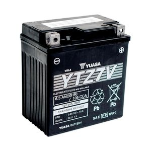 Yuasa YTZ7V High Performance MF Motorcycle Battery