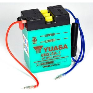 Yuasa 6N2-2A-1 Motorcycle Battery 6V