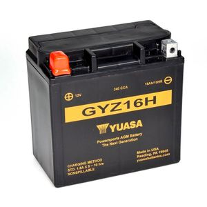 Yuasa GYZ16H High Performance MF Motorcycle Battery