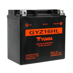 Yuasa GYZ16HL High Performance MF Motorcycle Battery