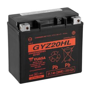 Yuasa GYZ20HL High Performance MF Motorcycle Battery