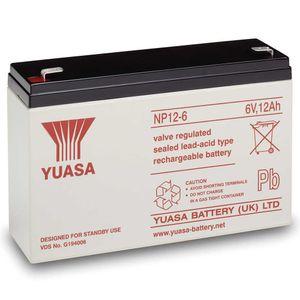 Yuasa NP12-6 Lead Acid Battery 6V 12Ah
