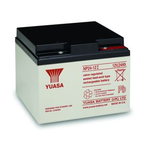 Yuasa NP24-12 Valve Regulated Lead Acid (VRLA) Battery 12V 24Ah