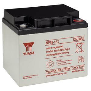 Yuasa NP38-12 Valve Regulated Lead Acid (VRLA) Battery 12V 38Ah