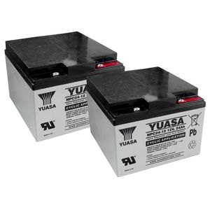 Pair of Yuasa NPC24-12 Cyclic Battery