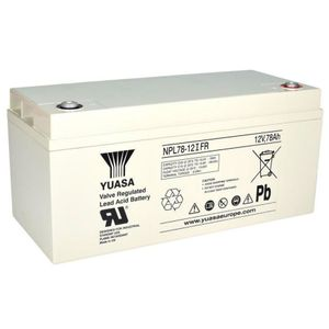 NPL78-12 (FR) Yuasa NPL-Series - Valve Regulated Lead Acid Battery