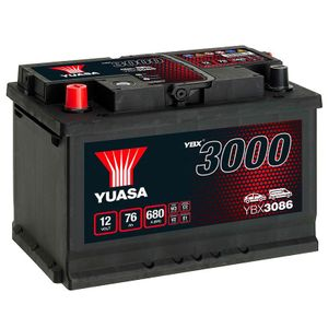 YBX3086 Yuasa SMF Car Battery 12V 76Ah