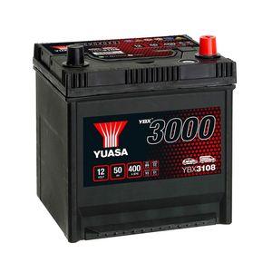 YBX3108 Yuasa SMF Car Battery 12V 50Ah