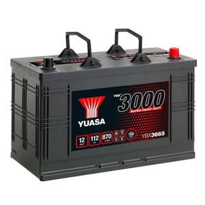 665SHD Yuasa Cargo Super Heavy Duty Battery 12V 115Ah YBX3665
