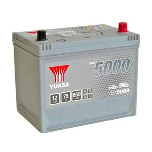 YBX5068 Yuasa Silver High Performance Car Battery 12V 75Ah