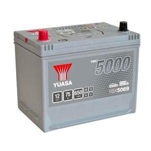 YBX5069 Yuasa Silver High Performance Car Battery 12V 75Ah