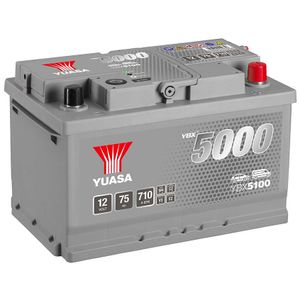 YBX5100 Yuasa Silver High Performance Car Battery 12V 75Ah HSB100