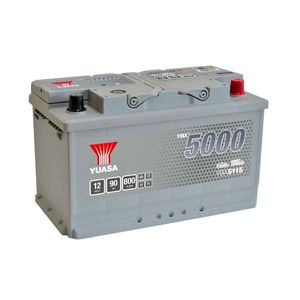 YBX5115 Yuasa Silver High Performance Car Battery 12V 90Ah