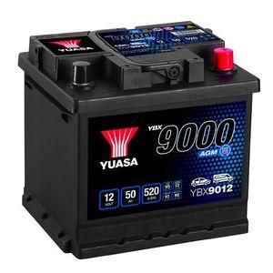 YBX9012 Yuasa AGM Start Stop Car Battery 12V 50Ah