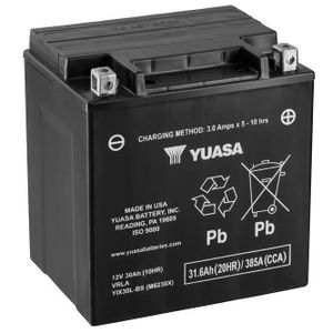 Yuasa YIX30L High Performance MF Motorcycle Battery