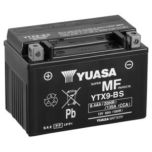 Yuasa YTX9-BS MF Motorcycle Battery