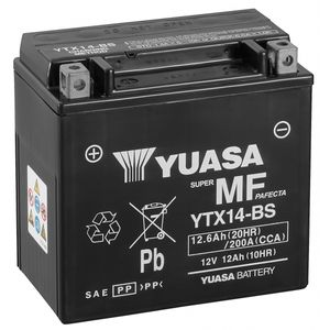 Yuasa YTX14-BS MF Motorcycle Battery