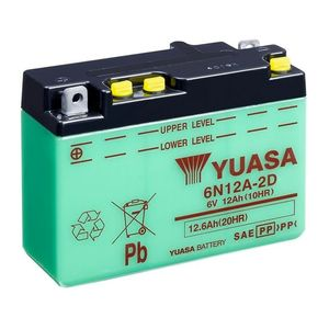 Yuasa 6N12A-2D Motorcycle Battery 6V