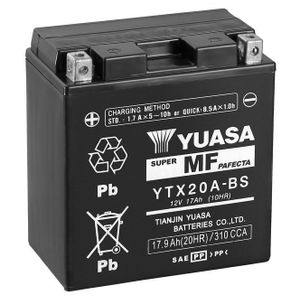 Yuasa YTX20A-BS MF Motorcycle Battery