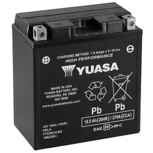 Yuasa YTX20CH-BS High Performance MF Motorcycle Battery