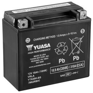 Yuasa YTX20H-BS High Performance MF Motorcycle Battery