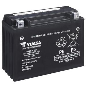 Yuasa YTX24HL-BS High Performance MF Motorcycle Battery