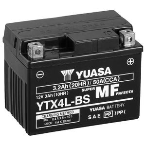 Yuasa YTX4L-BS MF Motorcycle Battery