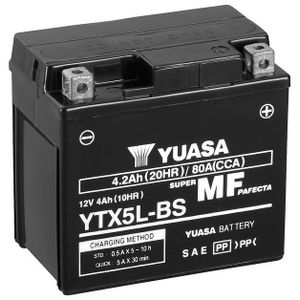 Yuasa YTX5L-BS MF Motorcycle Battery